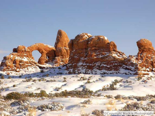 Arches National Park - dramatic Winters