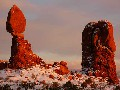 Iconic Scenery - Balanced Rock, winter sunset
